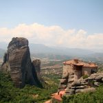One of the 6 monasteries perched atop the cliffs in Meteora.