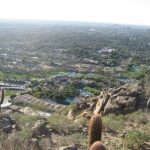 Birds eye view of the resort from the top of Camelback Mountain